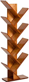 Bamboo 2-6 Shelf Tree Bookcases, Bookshelves, Special Design Bookshelves, CDs, Movies And Books Display Stands. (Red Oak ...