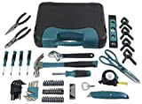Anvil A76HOS 76 Piece Homeowner's Tool Set w/ Scissors, Pliers, Hammer, Screwdrivers, and More (Bi-Fold Plastic Carrying Case Included)