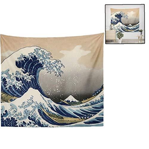 BYFRI Surf Tapisserie Wandbehang Große Welle Von Kanagawa Wandteppiche Mit Kunst Natur Home Hintergrund Wandschmuck
