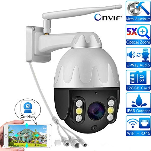 5.0 MP 5 x optische zoom metaal wifi PTZ camera Outdoor 1920P 1080P Wireless Speed Dome bewakingscamera CCTV Security IP CamHi 1080P-64GB(3.6mm)