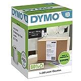 DYMO LW etiquetas auténticas extragrandes de envío para la rotuladora LabelWriter 4XL | 104mmx159mm | rollo de220 | impresión negra sobre fondo blanco