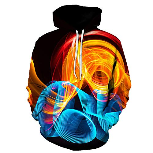 PRJN Unisex 3D Print Hoodie Cool Lightweight Pullover Hooded Sweatshirt Lightweight Sweatshirts Hooded Jumpers Unisex Hoodies HD 3D Print Pullover Lightweight Sweatshirts Pockets Pullover Hooded