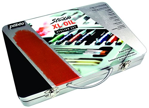 Pébéo caja metálica pintura al óleo Bellas Surtido XL