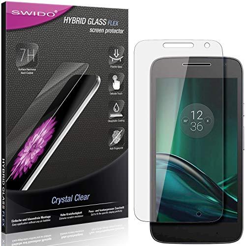 SWIDO Panzerglas Schutzfolie kompatibel mit Lenovo Moto G Play Bildschirmschutz-Folie & Glas = biegsames HYBRIDGLAS, splitterfrei, Anti-Fingerprint KLAR - HD-Clear