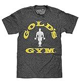 Tee Luv Gold's Gym Strongman T-Shirt (Black Onyx Heather) (XX-Large)