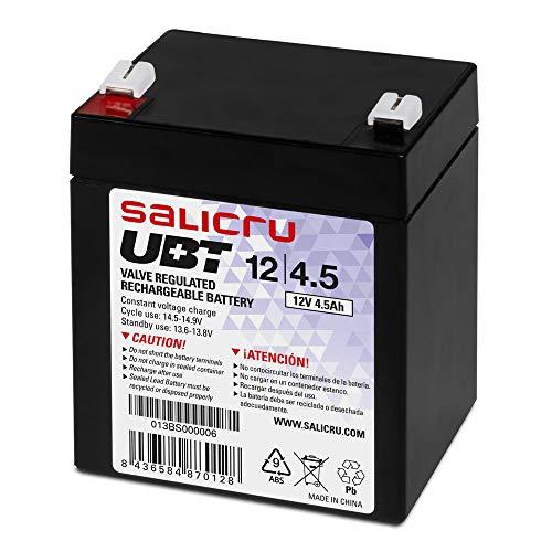 Salicru UBT 12/4, 5 - Batería AGM recargable de 4, 5 Ah.