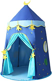 XBR Mini barntält, tält blått spelhus, barnfamilj nöjespark tält/peruktält för pojkar/tjockt material rund botten design b...