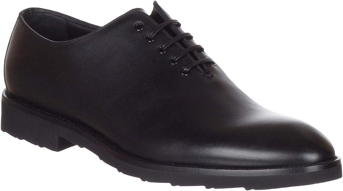 Dolce & Gabbana Men's Black Leather Lace Up Oxford Shoes