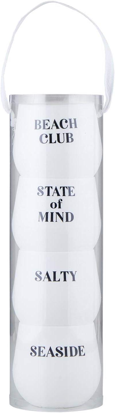 Santa Barbara Design Studio F2F Silicone Wine Glass, Set of 4, Ocean