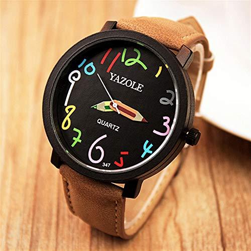 HWCOO Schöne Coole Uhr 347 329 Cartoon Graffiti Uhr weibliches Modell Quarzuhr (Color : 8)