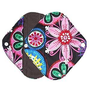 Ularma Reusable Charcoal Bamboo Mama Pads/ Menstrual Pads Cloth/ Sanitary Napkins Pad -Night time protection