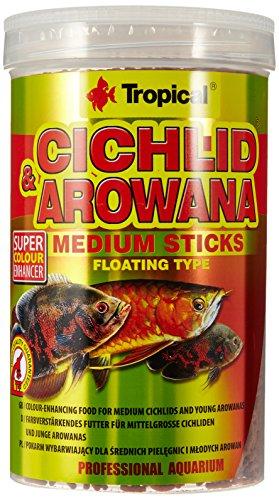 Tropical Cichlid & Arowana Medium Sticks - Farbverstärkende Futtersticks mit Astaxanthin, 1er Pack (1 x 1 l)