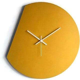 42cm Grande orologio da muro silenzioso per soggiorno colorato come giallo banana Particolari orologi a parete analogici c...