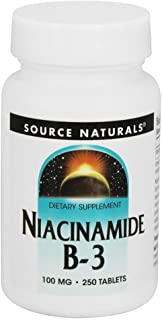 Source Naturals Niacinamide B-3 100mg Metabolic Support - 250 Tablets