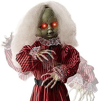 Haunted Holly Animatronic Roaming Doll Halloween Decoration