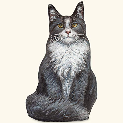 DOORSTOPS - Blue Maine Coon CAT Doorstop - CAT Door Stopper