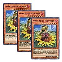 【 3枚セット 】遊戯王 英語版 SESL-EN053 Marina, Princess of Sunflowers 姫葵マリーナ (スーパーレア) 1st Edition