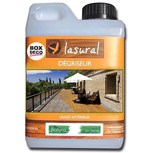 NATURA Dégriseur Naturelle Bois extérieur - Écologique - Bio Lasural - Produit d'entretien pour terrasse (5L)