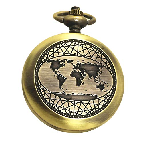 Yalatan Brújula de Reloj de Bolsillo de Bronce Retro, brújula de Pulido de galvanoplastia de aleación de Zinc portátil…