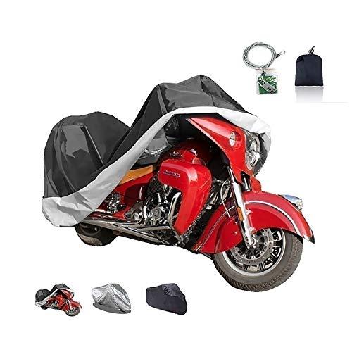 Fundas para Motos Cubierta de la motocicleta compatible con cubierta de la motocicleta Yamaha V-Max VMX 17, 3 colores 210D Oxford con tapa de la cerradura exterior motocicleta, ajuste 220-295cm