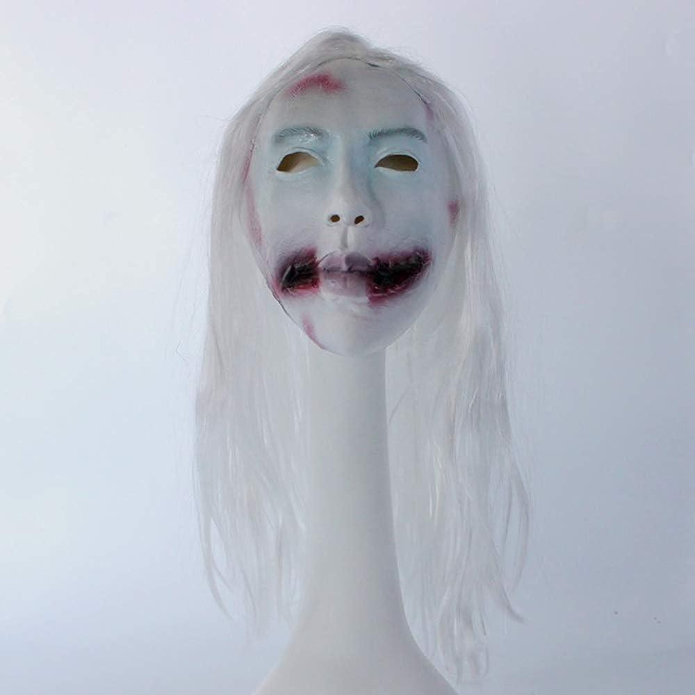 ギネス生むウッズハロウィーンのホラーマスク、白髪の女性のゴーストマスク、クリエイティブな面白いヘッドマスク、パーティー仮面ラテックスマスク