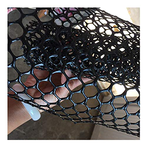 LinLiQiao Plant Garden Fence Snow Grille Fence Professional Poultry Equipment Stairway Handrail Safety Netting, Black, 1M*9M.(Size:0.8CM Aperture,Color:Black)