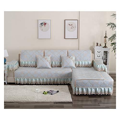 MISSMAO_FASHION2019 Sofaüberwurf Sofaschoner für Ecksofa,Couch Abdeckungen rutschfest Sofabezug Schützen vor Haustiere und Kindern Atmungsaktiv Blau1 90x160cm