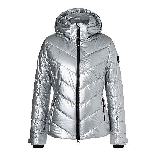 Bogner Fire + Ice Ladies Sassy2 Metallic Grau, Damen Isolationsjacke, Größe 42 - Farbe Liquid Silver