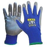 S&R Schutzhandschuhe 12 Paar mit Nitrilbeschichtung in XL/10, Anti-Rutsch Arbeitshandschuhe für...