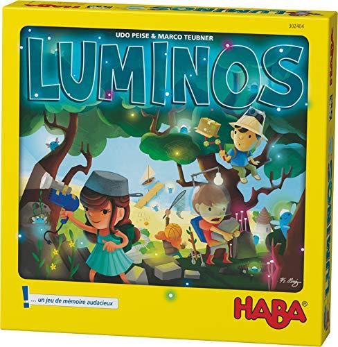 HABA- Luminos La Recherche de Luminettes Un Jeu de société aventureux pour Les 5 Ans et Plus, 302404