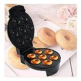 LKOPYUo Donut à 7 Trous, Machine à gâteau/gaufrier, Machine électrique de Fabrication de Beignets de 5,5 cm, plaques chauffantes antiadhésives à Chauffage Uniforme Double Face, enveloppe de Cordon P