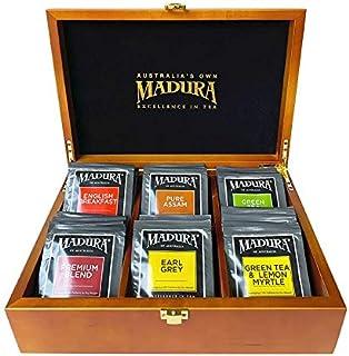 Madura Wooden Tea Box with 72 Enveloped Tea Bag Assortment, 1 x 72 Pieces