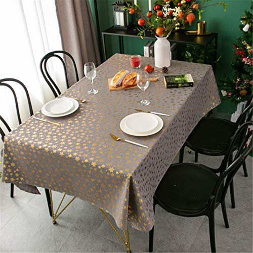 HTUO Home Kitchen Decoration Grey Table Cloths Rectangular Christmas Decoration Tablecloths Party Table Cover Wipe Clean Tablecloth Buffet Decoration Dining Christmas Party 60 * 60cm