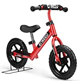 ENKEEO - 12 Bicicleta sin Pedales, Bicicleta Infantil de Equilibrio