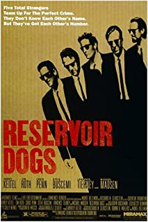 Quentin Tarantino's RESERVOIR DOGS movie poster HARVEY KEITEL TIM ROTH 24X36 (reproduction, not an original) by HSE