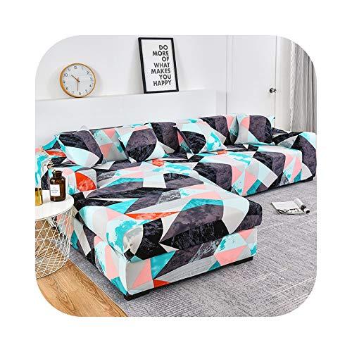 Friendshiy - Funda de sofá de esquina extensible, funda de sofá para salón elástica, toalla en forma de L, 2 piezas, color 2-1-seat, 90 – 140 cm, 1 unidad