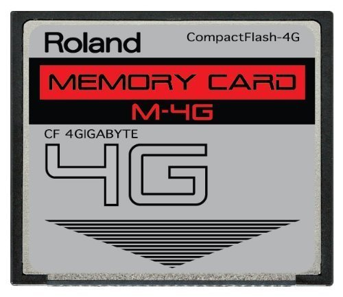 4GB Roland M-4G CompactFlash CF Memory Card for V-Synth, TD-20, Fantom X6, X7, X8, Xa and More