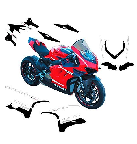 Vulturbike Aufkleber-Set komplett Design Super Leicht - Ducati Panigale V4S/V4R/ V4 2020 V4R