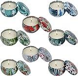 Aroma Kerzen,8 Stück Duftkerzen Geschenk Set,Natürliches Sojawachs für Aromatherapie, Massage, Stress Abzubauen.Aromatherapie-Kerzen für Weihnachten,Geburtstag, Valentinstag etc