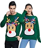 Ugly Christmas Sweater 3D Nase und Licht