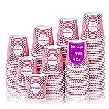 140 Vasos Carton Desechables para Café Espresso Círculos 110 ml para Café para Llevar