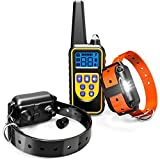 Dog Training Collar, F-color Waterproof and Rechargeable Dog Shock Collar 2600ft Remote Range Shock Collar for Dogs, with Beep Vibration Shock LED Light Mode for Medium and Large Dogs