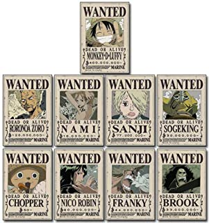 One Piece Straw Hat Crew Wanted Poster Sticker