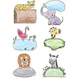 Creative Teaching Press Safari Friends 6' Cut Outs (Accent for Calendars, Bulletin Boards and Classrooms, Learning Spaces and More) (3278)
