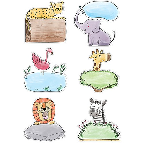 Creative Teaching Press Safari Friends 6 Cut Outs (Accent for Calendars, Bulletin Boards and Classrooms, Learning Spaces and More) (3278)