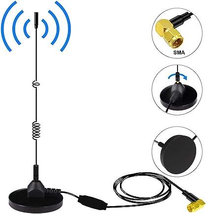DAB+ Antena de Radio Digital Para Coche SMA Adaptador de Antena con Potente Soporte Magnético Universal cable de Extensión 3M para DAB AM/FM Radio de Coche Soporte de Instalación en Interiores