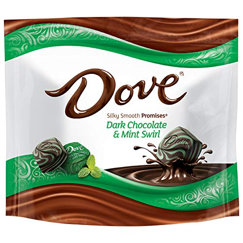 DOVE PROMISES Dark Chocolate Mint Swirl Candy 761Ounce Bag Pack of 8