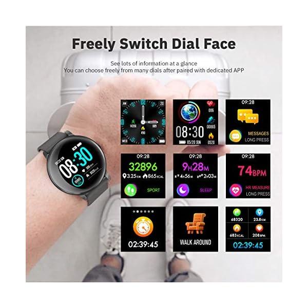 CatShin Smartwatch, Reloj Inteligente para hombre mujer, IP68 Impermeable