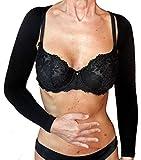 CzSalus Manguitos de compresión para masajear los brazos, Lipedema, Linfedema, Negro, talla L/XL