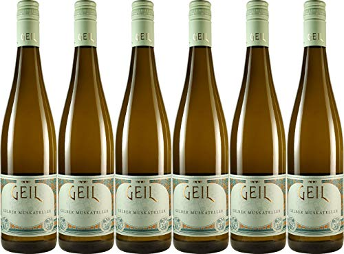 Geil Gelber Muskateller - Weingut Geil 2019 Feinherb (6 x 0.75 l)